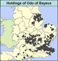 1086 Land holding of Odo of Bayeux