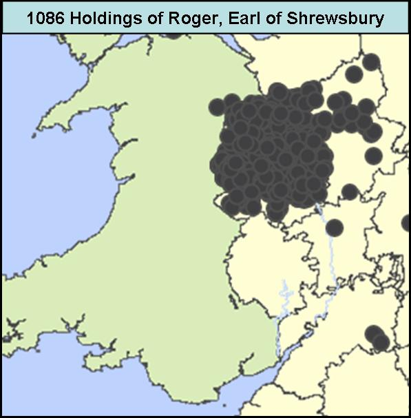 Land holdings of Roger Earl of Shrewsbury