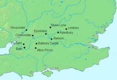Key places in the time of Ceawlin