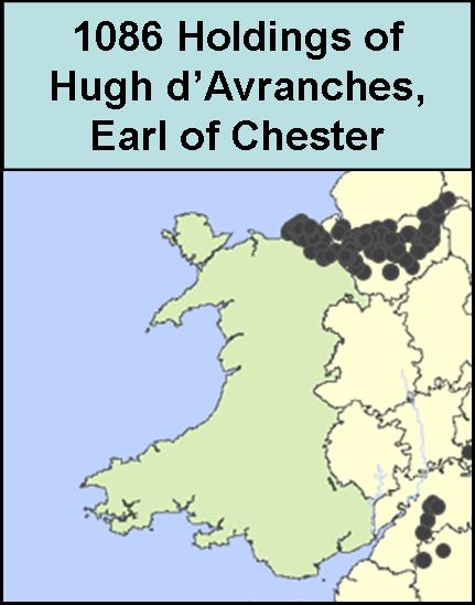 Land holdings of Hugh d'Avranches