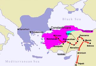 The Crusader march to Jerusalem