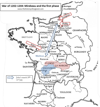 War of 1202 -1204 - Mirebeau and the first phase