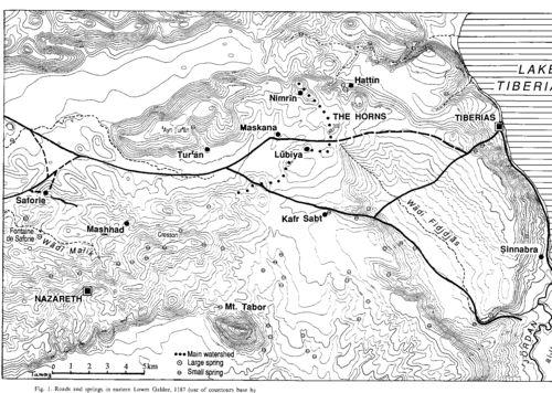 Horns of Hattin map