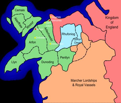 Gwynedd after the Treaty of Aberconwy 1277