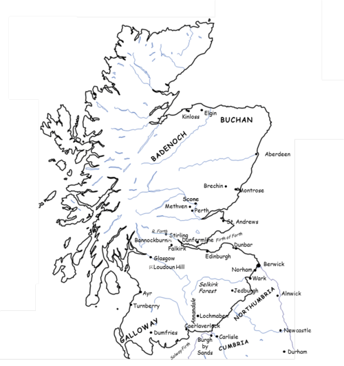 1290-1327 Map of Scotland