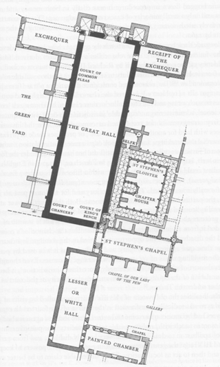 Westminster palace in the 14th Century