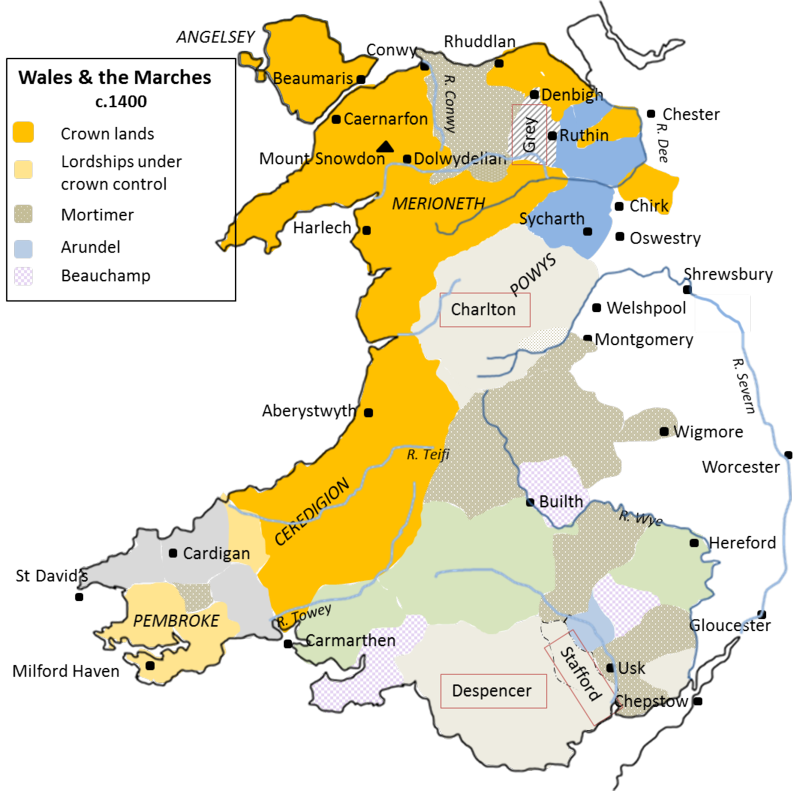 Lordship in the Welsh Marches 1400