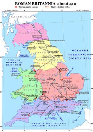 Roman Britai in 410