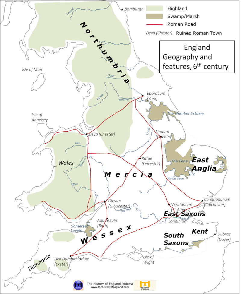 England in 6th century