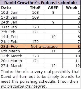 Q1 2016 Schedule