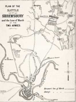 Battle of Shrewsbury map